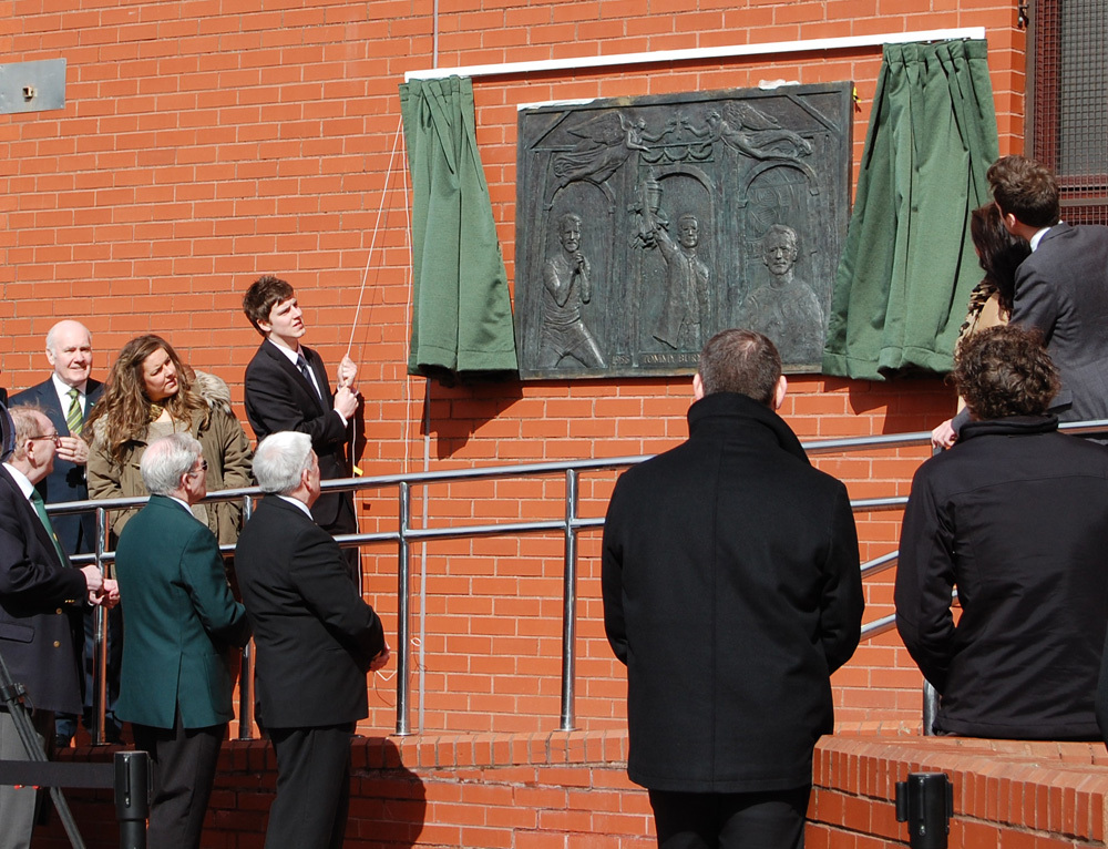 The Unveiling Ceremony for the Tommy Burns Plaque
