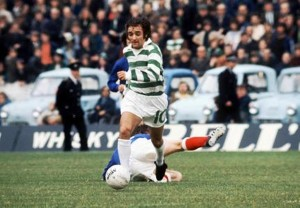 Lou Macari (Celtic) Rangers v Celtic. 16/9/72  Credit : Colorsport