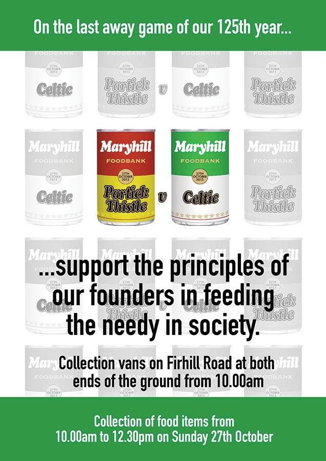 Partick Thistle Game – Maryhill Foodbank collection