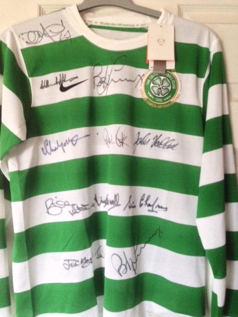 Lisbon Lions Jersey Auction In Aid of Padraig and Andy