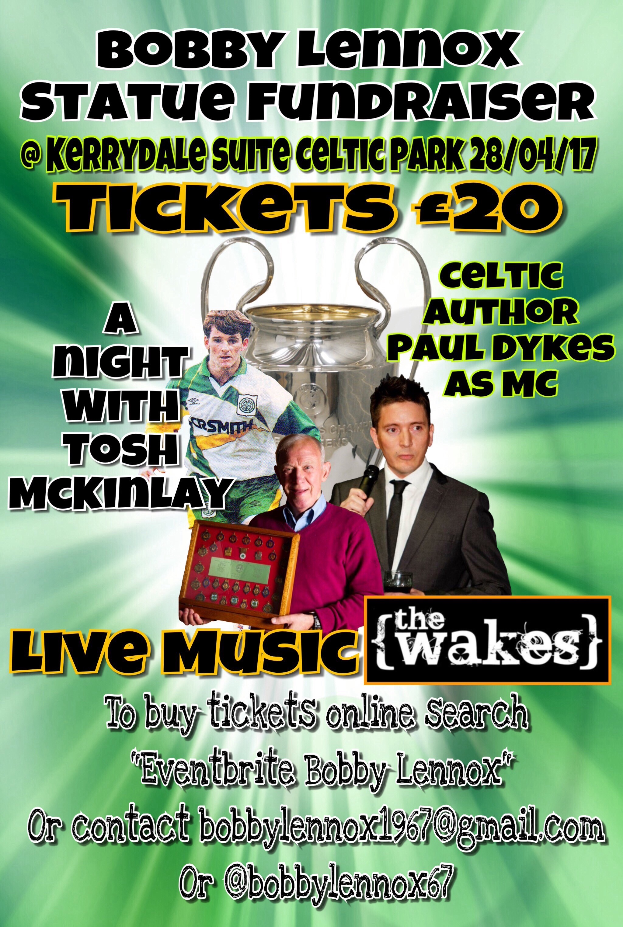 BOBBY LENNOX TRIBUTE NIGHT 28TH APRIL