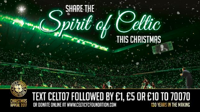 CELTIC DELIVER £10,000 DONATION TO CHILDREN'S HOSPITAL CHARITY