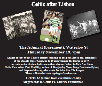 Celtic history discussion and book night Admiral Bar 19th November